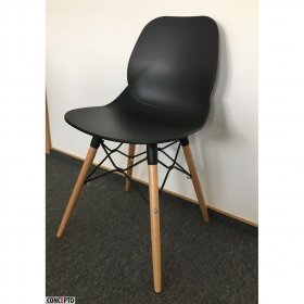 Черный пластиковый стул Friend