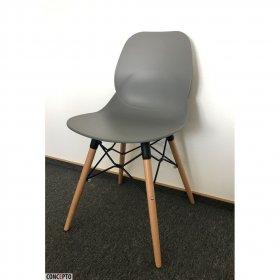 Серый пластиковый стул Friend