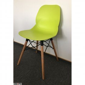 Зеленый пластиковый стул Friend