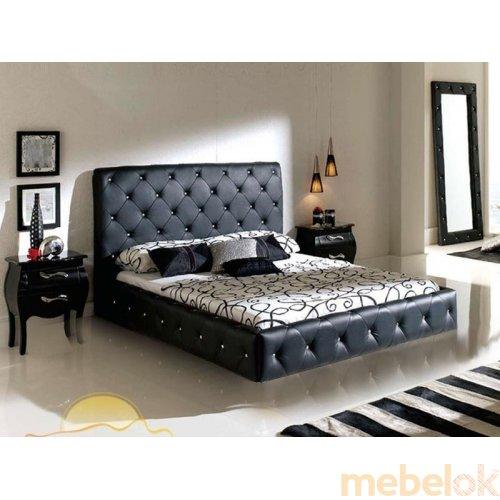 Кровать с мягким изголовьем Стим 160х200