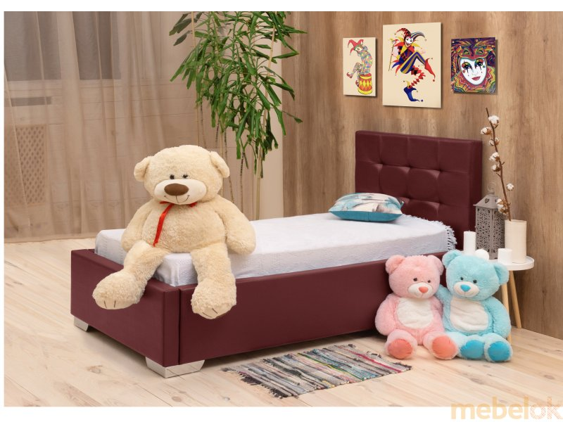 ліжко з виглядом в обстановці (Підліткове ліжко Арлекіно 80х190)