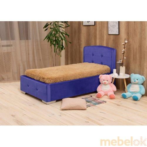 ліжко з виглядом в обстановці (М'яка ліжко Попелюшка 90х200)