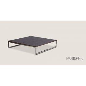 Стол Модерн-5 KS 98х98х21 со стеклянной столешницей