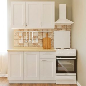 Кухня Палома 1,2 м белый матовый