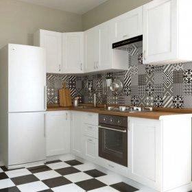 Кухня Палома 2,5х1,1 м матовый белый