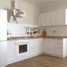 Кухня Палома 2,6х1,6 м матовый белый