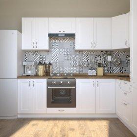 Кухня Палома 2,6х2,0 м матовый белый