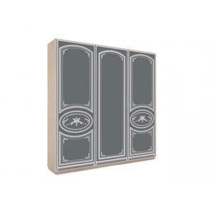 Трехдверный шкаф-купе В-244 с пескоструем 240х240х45 см купить в интернет-магазине мебели МебельОк