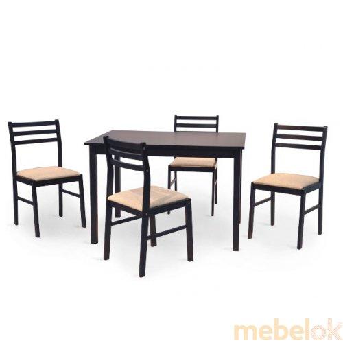 Зеркальное отображение - Комплект Пилар стол + 4 стула
