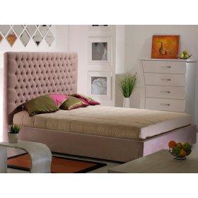 Кровать с подъемным механизмом 1,6 Олимпия (беж роз) (соло вельвет 1090)
