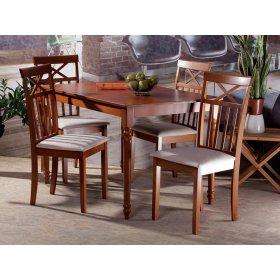 Комплект стол Верона орех+4 стула Ривьера