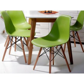Комплект стол Лукас+4 стула Прайз зеленый