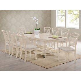 Комплект стол Палермо + 8 стульев Палермо айвори лайт