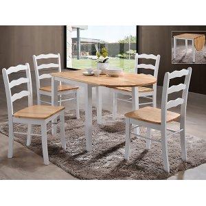 Комплект стол Сканди + 4 стула Сканди белый