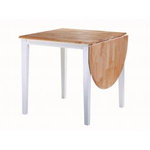 Стол Сканди бук-белый 75(+45)х75х75 см