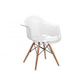 Кресло Прайз пластик прозрачный