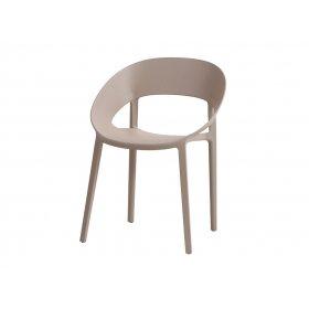 Кресло Шелл пластик бежевый