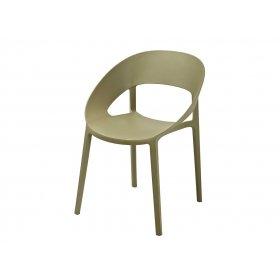 Кресло Шелл пластик зеленый чай