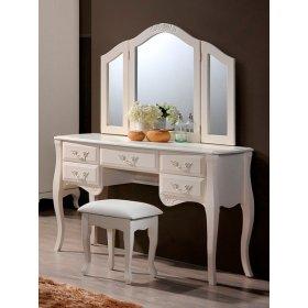 Будуарный столик+зеркало+пуф Богемия