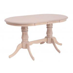 Стол Анжелика V (1,5м) крем 150(+40)х90х75 см