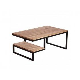Журнальный столик с полочкой дуб
