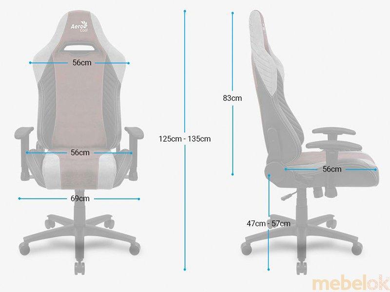 (Кресло для геймеров AEROCOOL BARON Iron Black) DXRacer