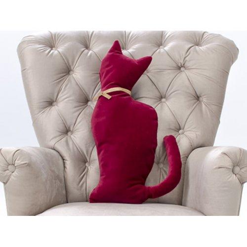 Подушка-игрушка Кошка Ред-велюр 30х50