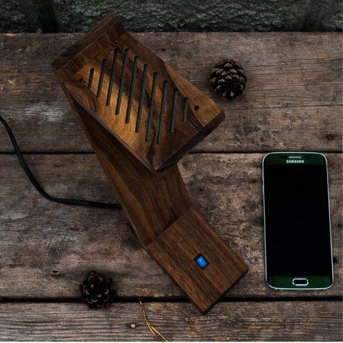 Аксессуар Деревянная лампа
