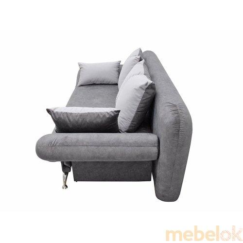диван с видом в обстановке (Диван Маэстро 1 серый)
