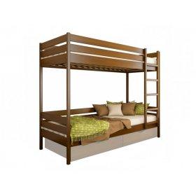 Двухъярусная кровать Дуэт 80х190 из массива бука