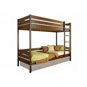 Двухъярусная кровать Дуэт 80х190 из щита бука