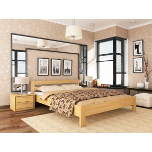 Ліжко з бука Рената 140х200