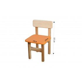 Стул детский деревянный цветной оранжевый