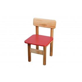 Стул детский деревянный цветной красный