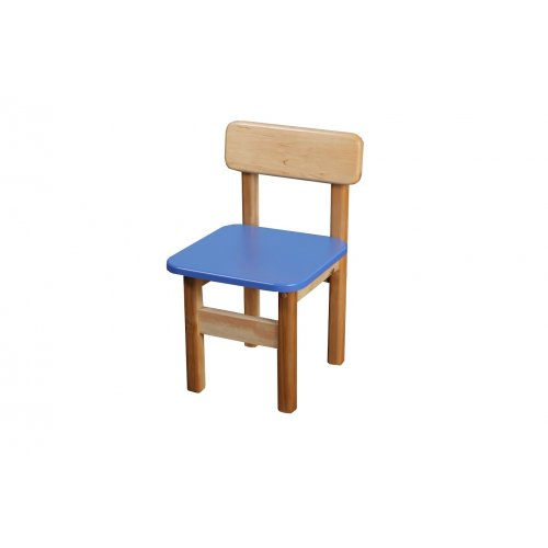 Стул детский деревянный цветной синий