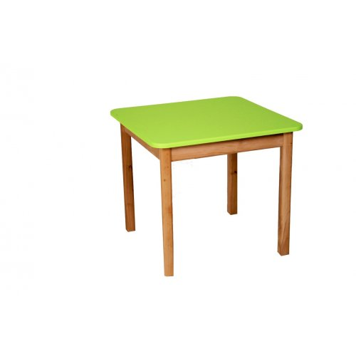 Стол деревянный столешница цветная салатовая