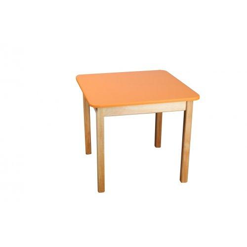 Стол деревянный столешница цветная оранжевая