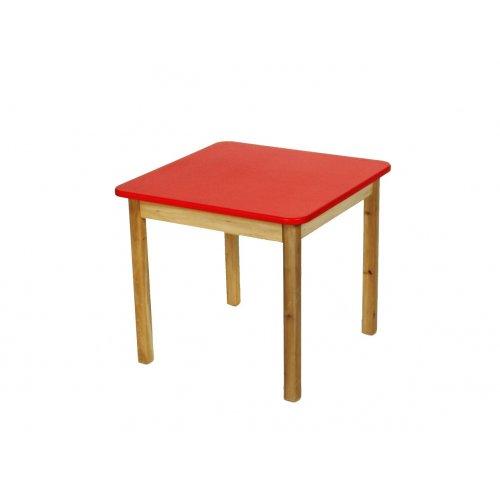 Стол деревянный столешница цветная красная