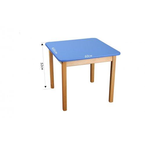 Стол деревянный столешница цветная синяя
