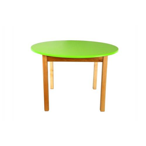 Стол деревянный столешница цветная круглая