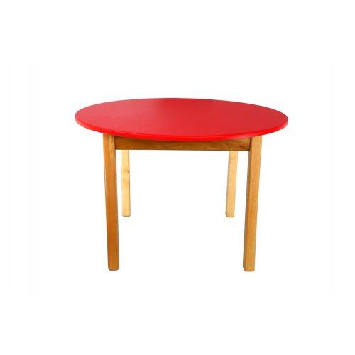 Стол деревянный столешница цветная круглая красная