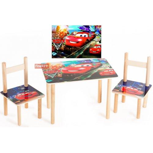 Набор детской мебели стол и 2 стула Тачки