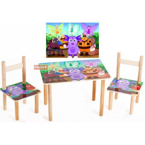 Набор детской мебели стол и 2 стула Лунтик