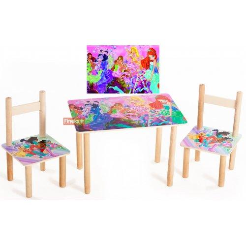 Набор детской мебели стол и 2 стула Винкс