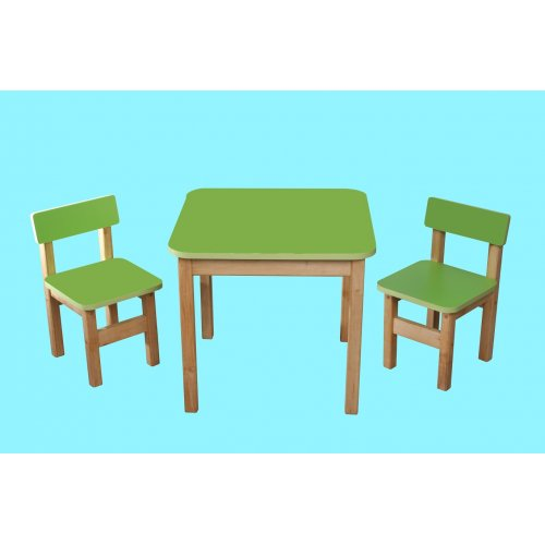 Эко набор мебели стол деревянный и 2 стульчика