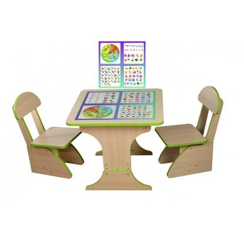 Игровой столик растущий + 2 стульчика Обучающий