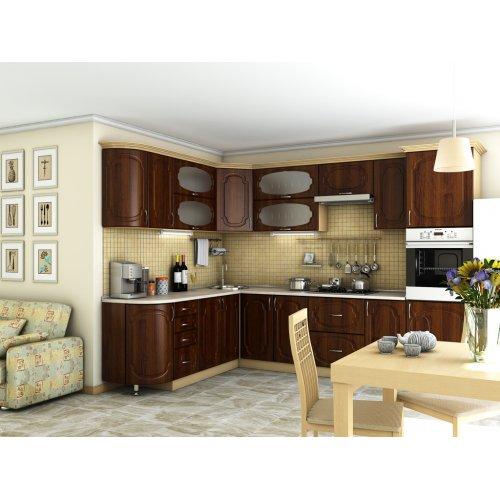 Кухня Сансет орех темный (2,1х3,0 м)