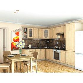 Кухня Сансет яблоня светлая (2,1х3,0 м)