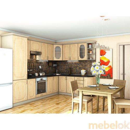 Зеркальное отображение - Кухня Сансет яблоня светлая (2,1х3,0 м)