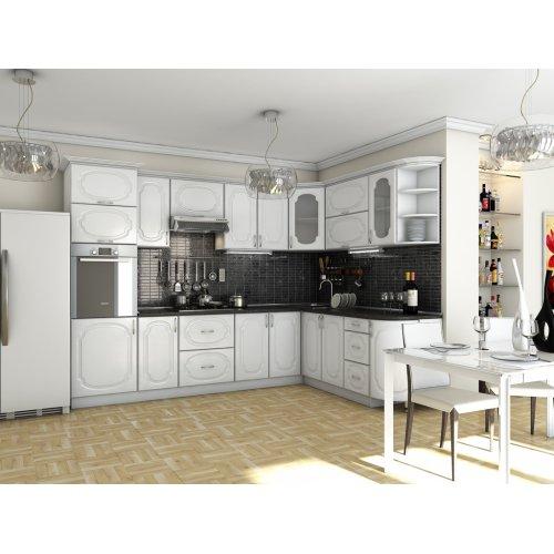 Кухня Сансет Белое дерево (3,0х2,1 м)